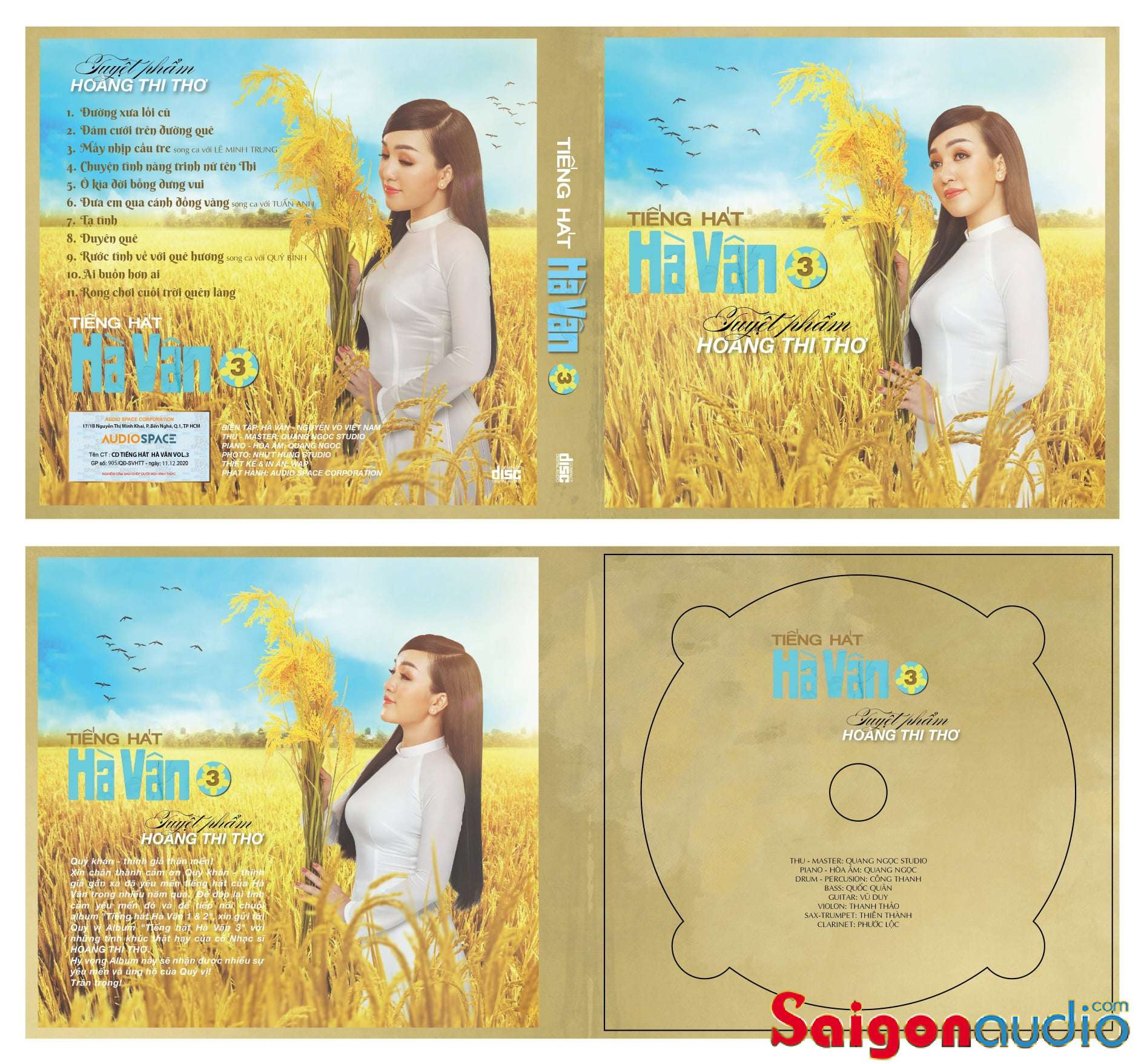 Đĩa CD nhạc gốc Album tiếng hát Hà Vân 3 - Tuyệt phẩm Hoàng Thi Thơ (Free ship khi mua 2 đĩa CD cùng hoặc khác loại)