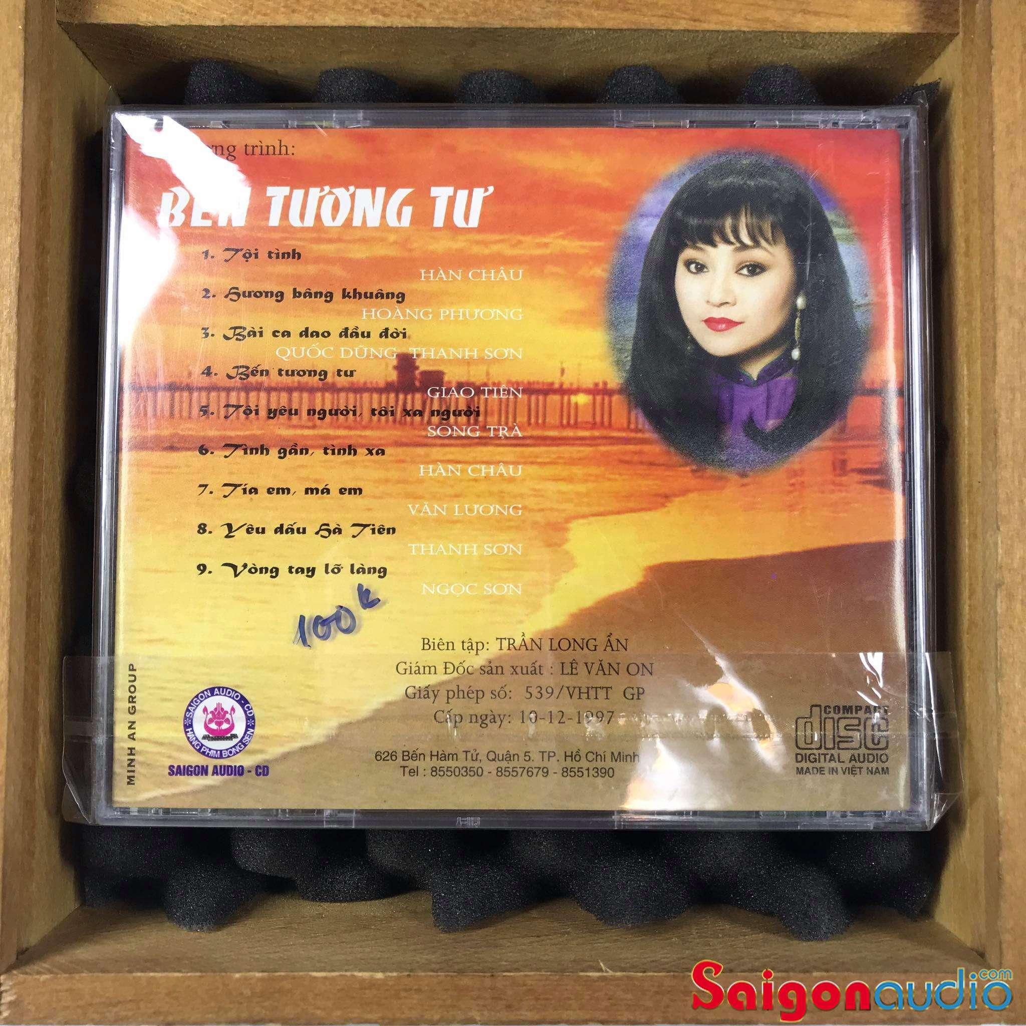 Đĩa CD nhạc gốc Hương Lan - Hoài Nam - Bến Tương Tư (Free ship khi mua 2 đĩa CD cùng hoặc khác loại)