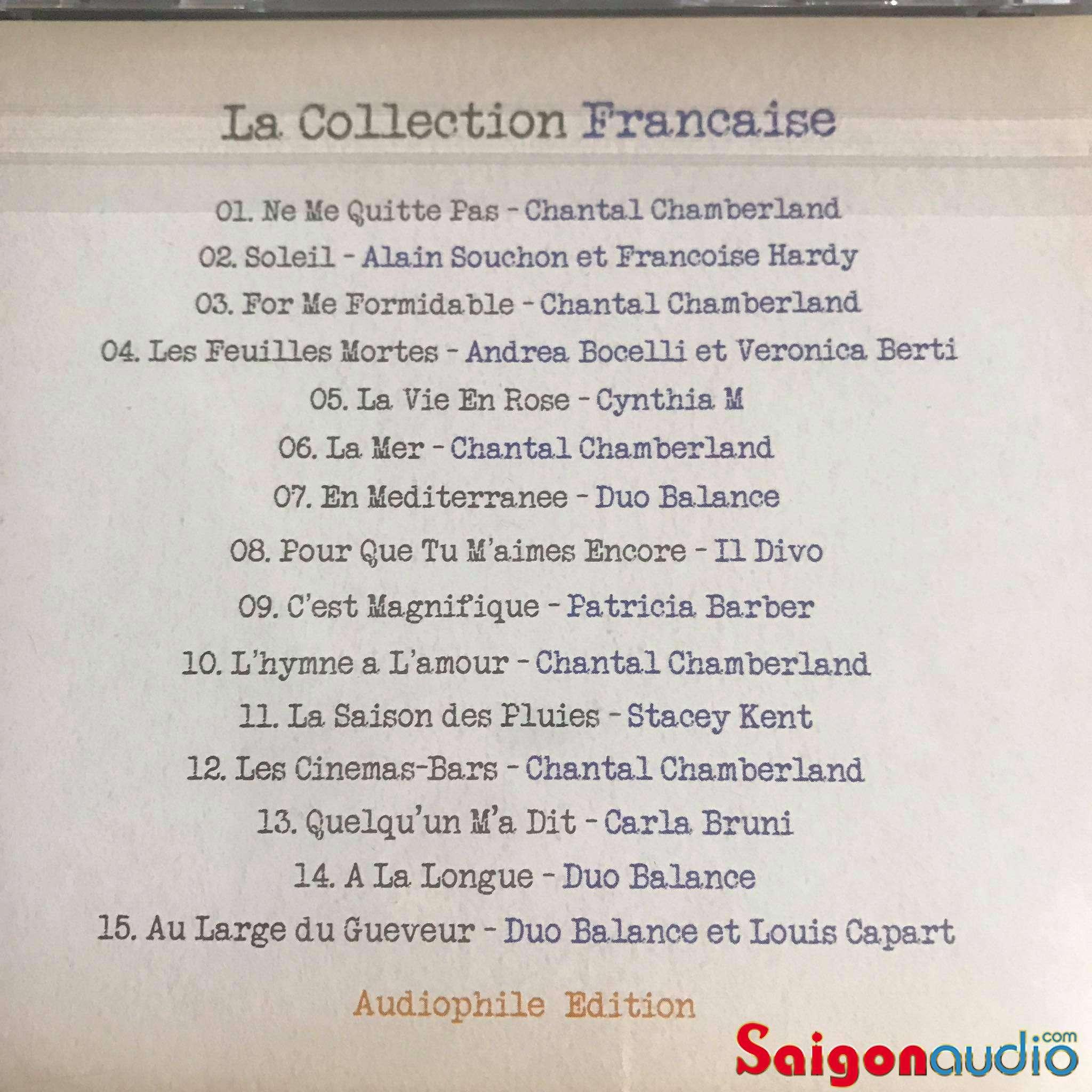 Đĩa CD nhạc La Collection Francaise - Audiphile Edition (Free ship khi mua 2 đĩa CD cùng hoặc khác loại)