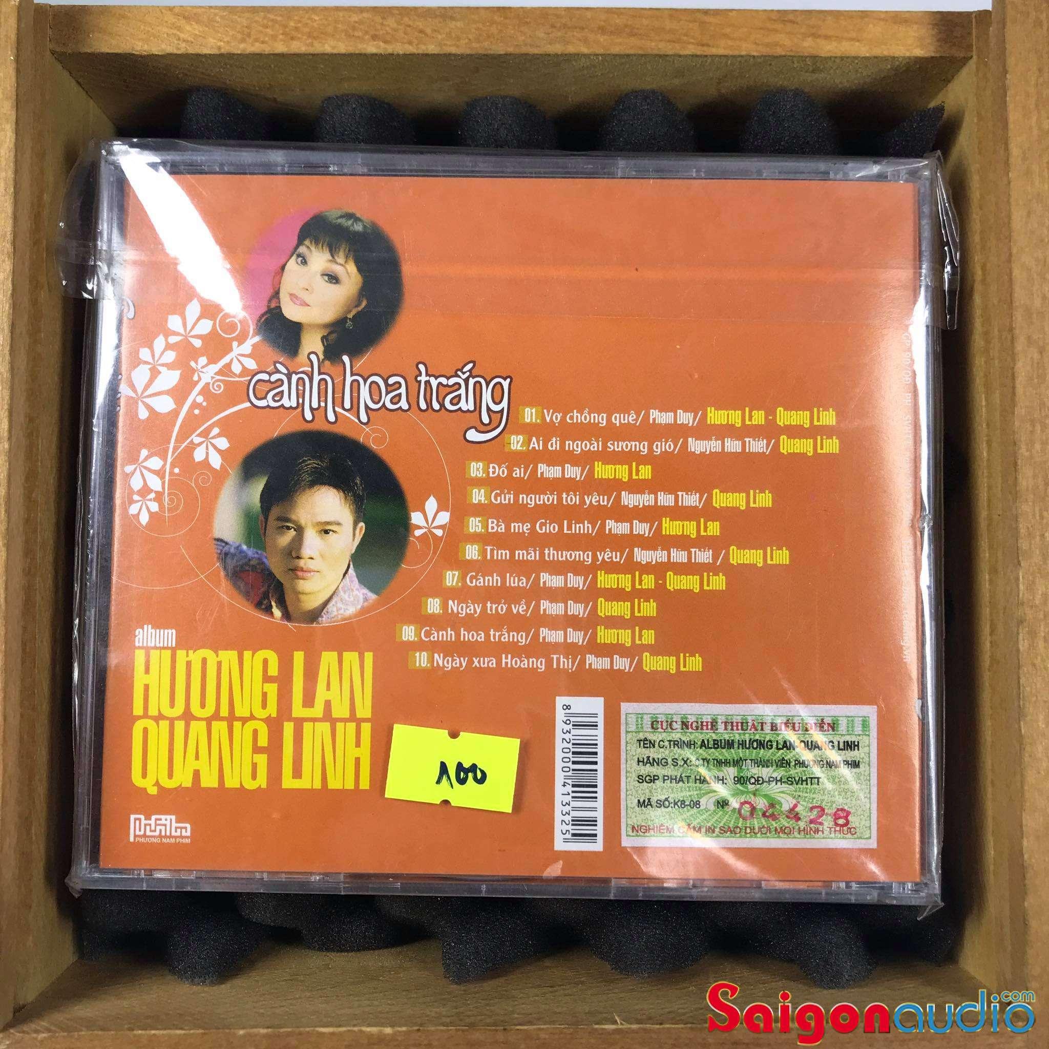 Đĩa CD nhạc gốc Hương Lan - Quang Linh - Cành Hoa Trắng (Free ship khi mua 2 đĩa CD cùng hoặc khác loại)