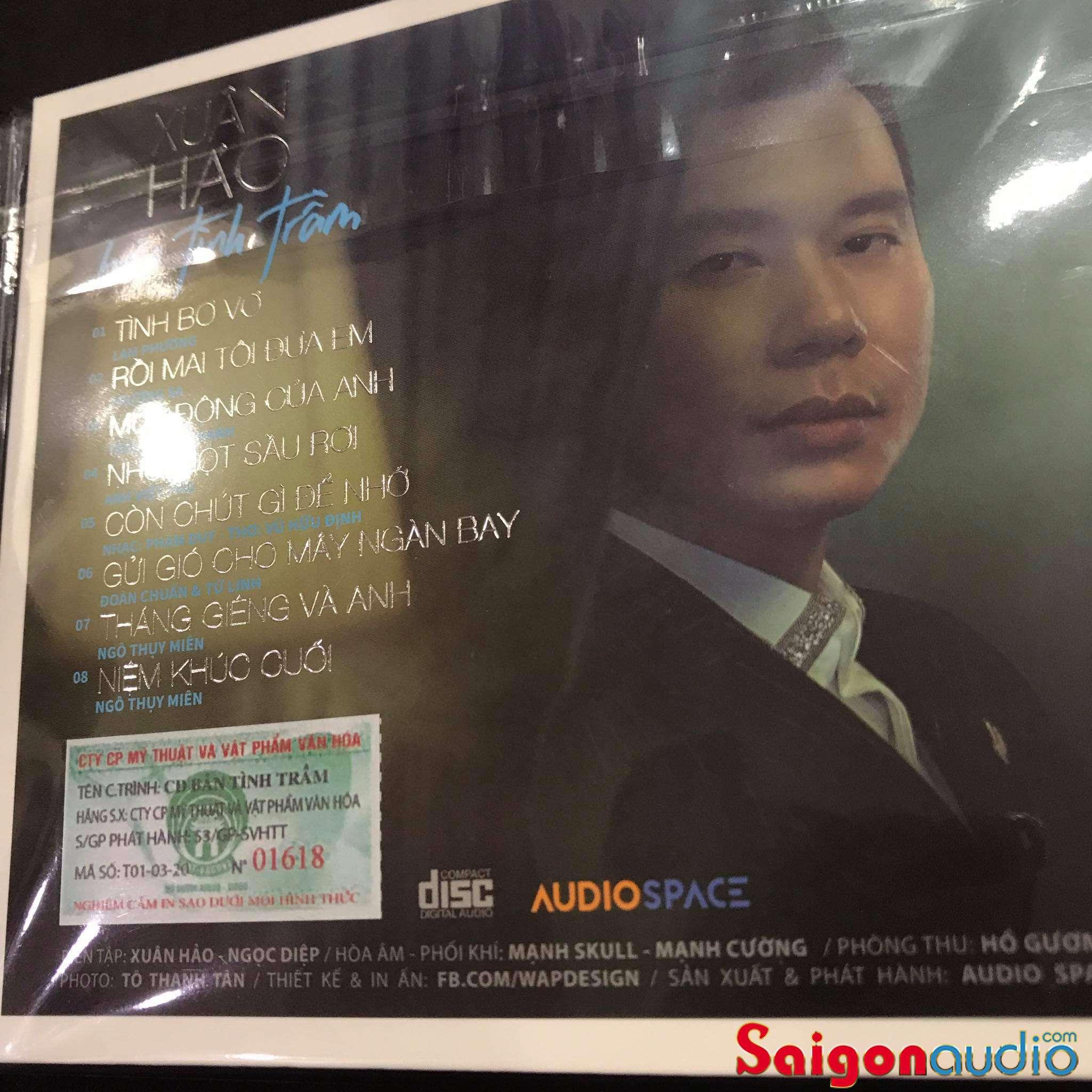 Đĩa CD nhạc gốc Xuân Hảo - Bản Tình Trầm (Free ship khi mua 2 đĩa CD cùng hoặc khác loại)