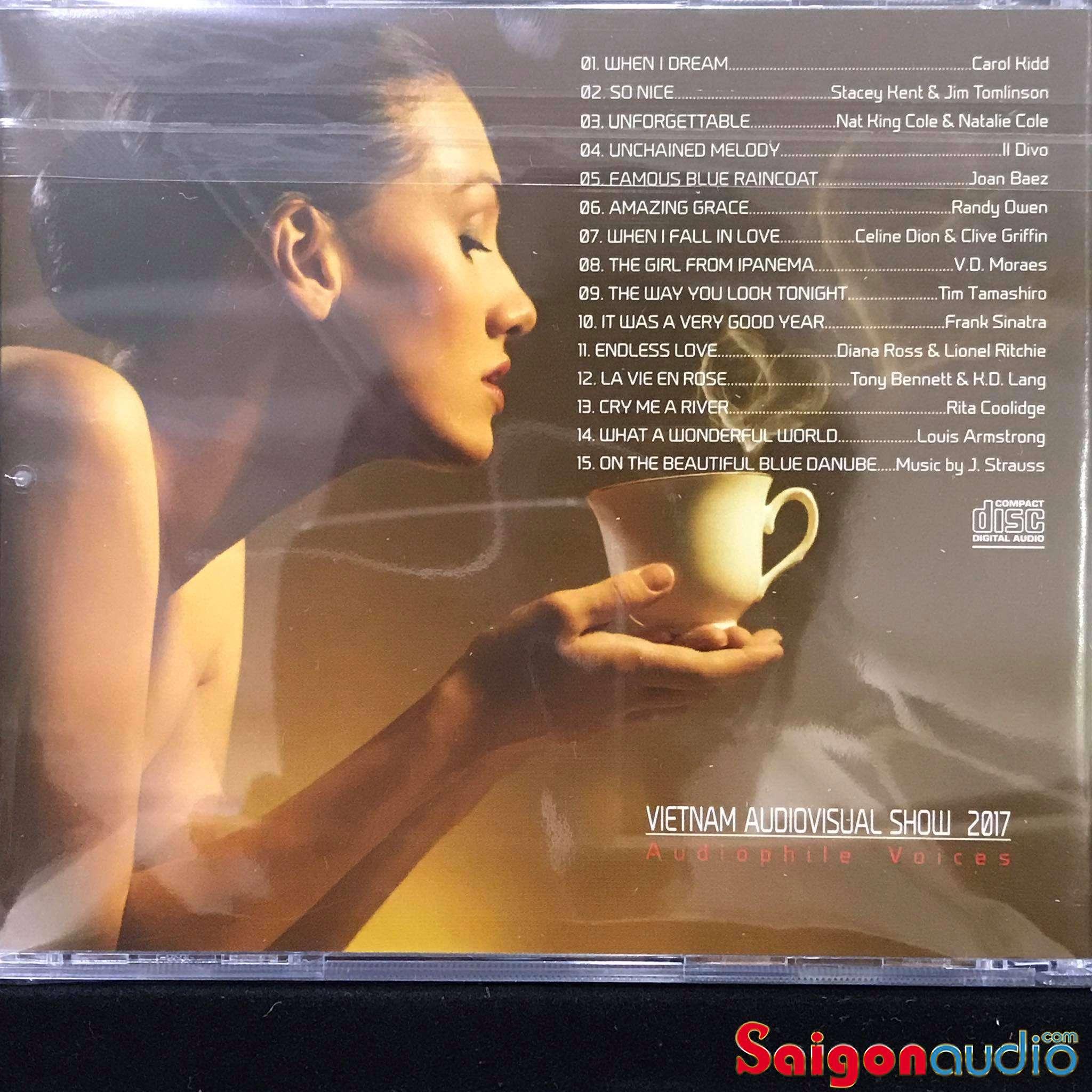 Đĩa CD nhạc Audiophile Voices Vietnam Audiovisual Show 2017 (Free ship khi mua 2 đĩa CD cùng hoặc khác loại)