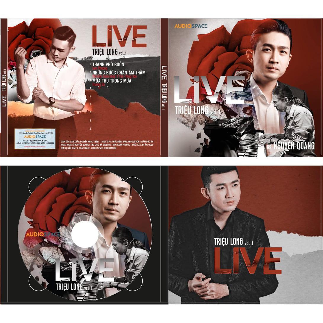 Đĩa CD gốc Triệu Long Live Vol.1 (Free ship khi mua 2 đĩa CD cùng hoặc khác loại)
