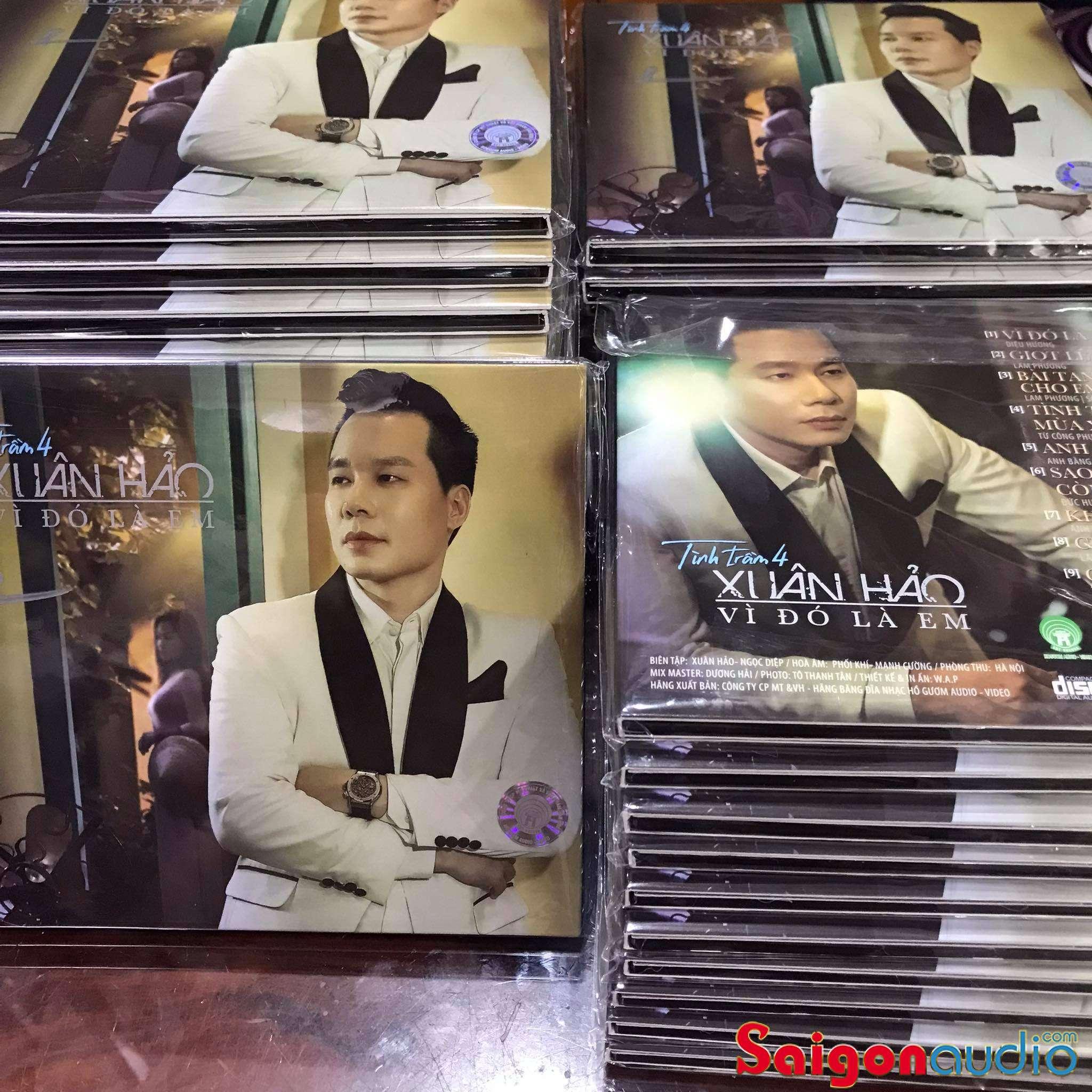 Đĩa CD nhạc gốc Xuân Hảo - Tình Trầm 4 - Vì Đó Là Em (Free ship khi mua 2 đĩa CD cùng hoặc khác loại)