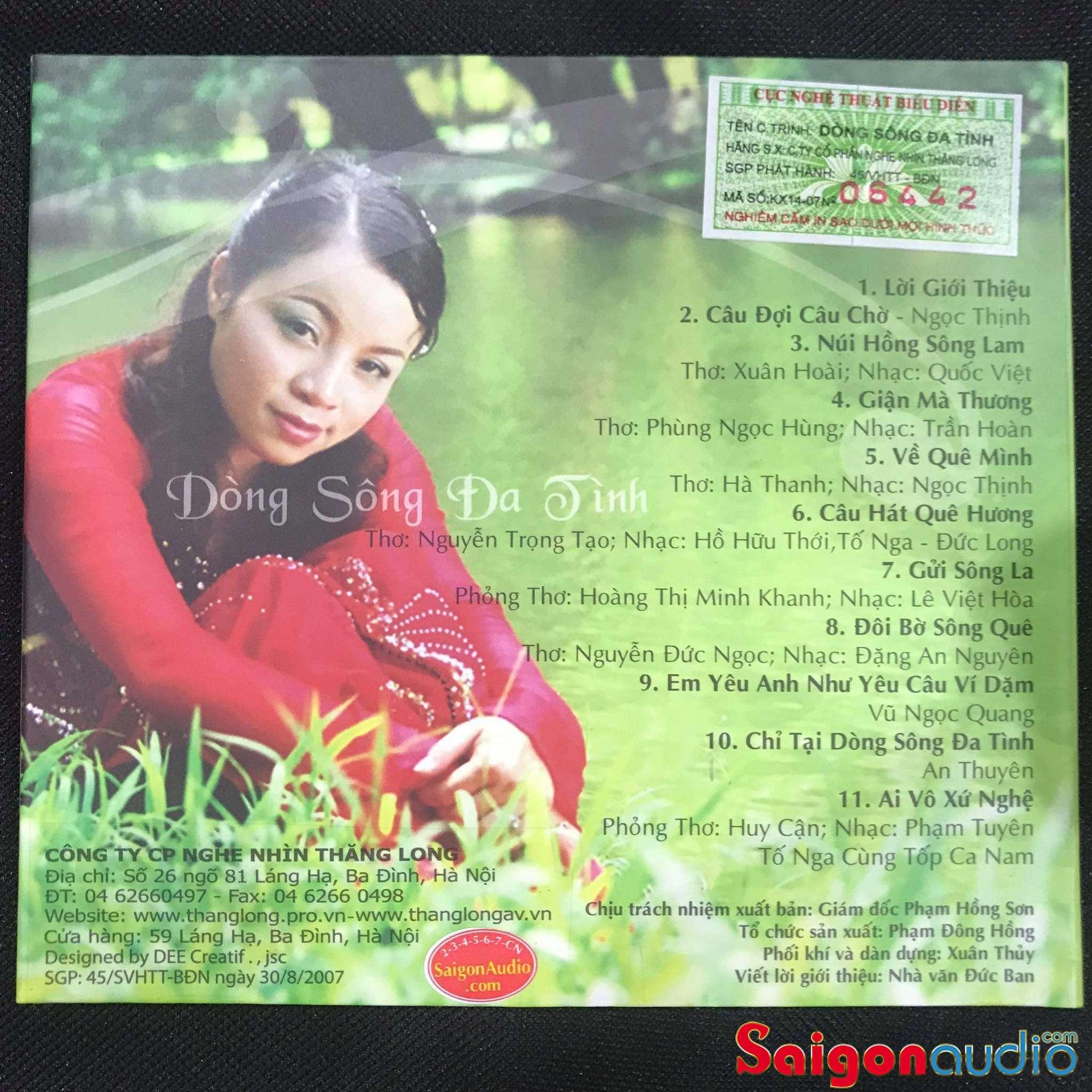 Đĩa CD nhạc gốc Tố Nga - Dòng Sông Đa Tình (Free ship khi mua 2 đĩa CD cùng hoặc khác loại)
