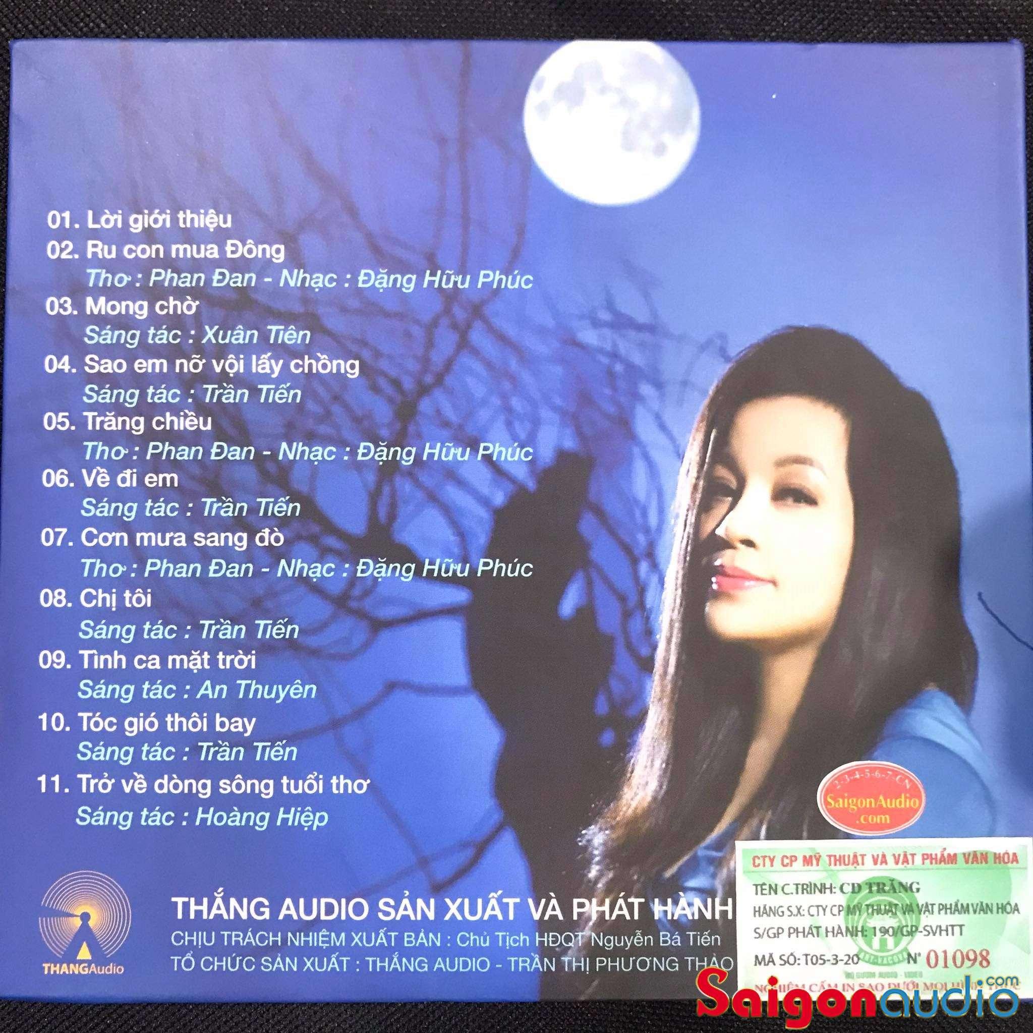 Đĩa CD nhạc gốc Tố Nga - TRĂNG (Free ship khi mua 2 đĩa CD cùng hoặc khác loại)