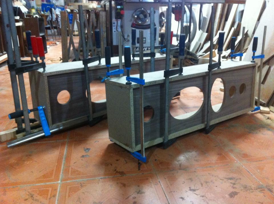 Chuyên đóng mới, phục chế thùng loa hi-end / phổ thông, ốp gỗ ampli, CDP,....