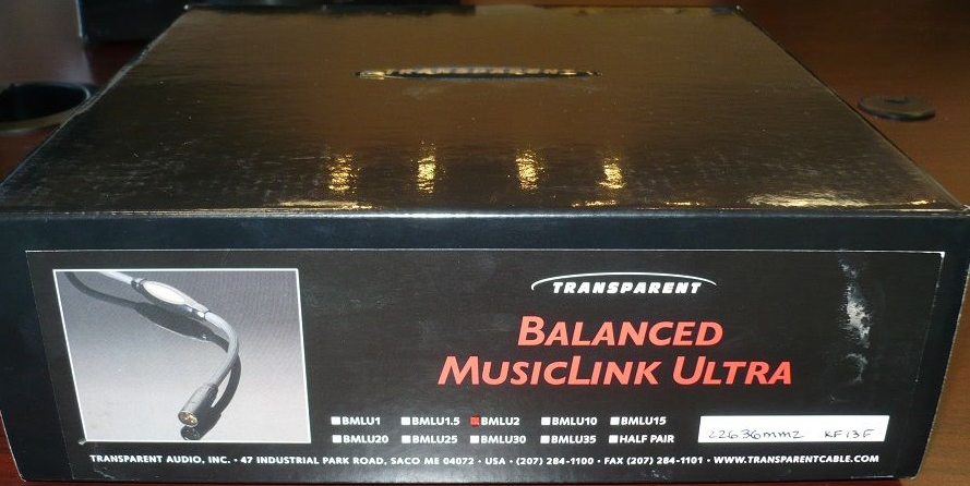 Dây Balance XLR Transparent ULTRA MM2, Made in USA, box, 2 x 2m